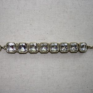 Retro Glam Square Cut Crystal Bracelet